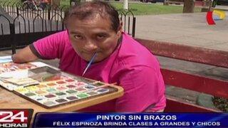 Félix Espinoza: conoce al pintor sin brazos que fue un éxito en el extranjero