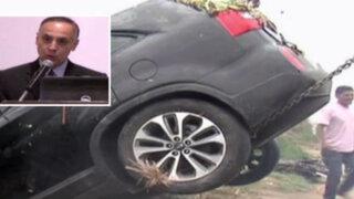 Director de Senati muere tras despistarse su auto y caer en Pantanos de Villa