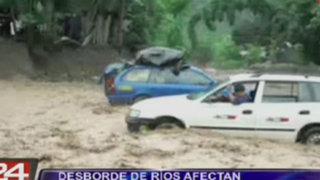 Las intensas lluvias afectan a pobladores de Chanchamayo y Oxapampa