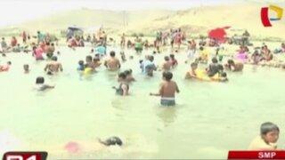 SMP: vecinos se divierten en 'poza de San Diego' en el verano