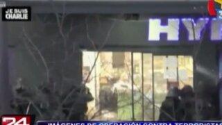 Difunden nuevas imágenes de operación contra terroristas que atacaron semanario francés