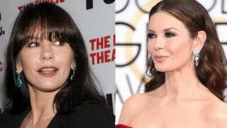 Catherine Zeta Jones luce irreconocible en los Globos de Oro
