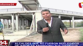 Informe 24: alcaldes que no fueron reelegidos abandonaron sus distritos