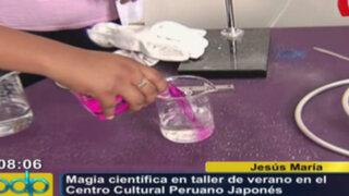 Magia científica en taller de verano en el Centro Cultural Peruano Japonés
