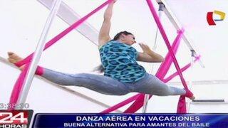 Aproveche las vacaciones de forma diferente con los talleres de danza aérea