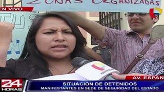 Ley Pulpín: familiares exigen liberación de jóvenes detenidos en marcha