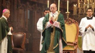 Cardenal Cipriani pide a limeños retomar el camino de la paz y humanidad