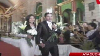 Ayacucho: Magaly Solier se casó por religioso en Huanta