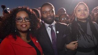"Reparto de película ""Selma"" y Oprah Winfrey en tributo a Martin Luther King"