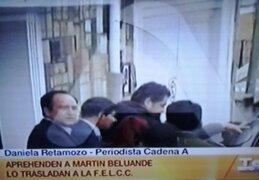 Policía boliviana detuvo a Belaunde Lossio en una vivienda en La Paz