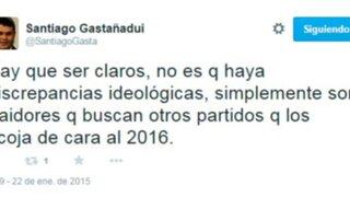 Congresista Gastañadui llama traidores a quienes buscan alejarse del partido nacionalista