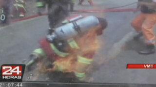 En cuidados intensivos está bombero que resultó herido en incendio de VMT