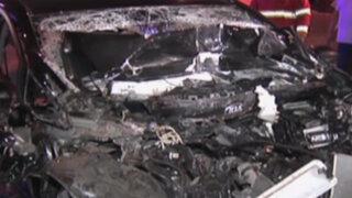Pasajero de taxi muere al chocar su vehículo contra camión