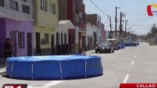 Callao: piscinas inflables obstaculizan calles y perjudican traslado de bomberos