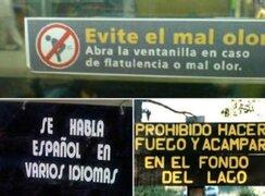 Hilarantes: los 12 carteles más insólitos que nunca imaginaste ver