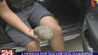Dos heridos por nuevos deslizamientos de piedras en la Costa Verde