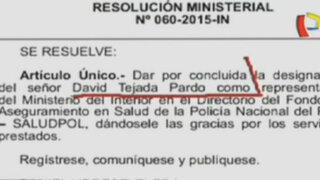 Despiden al padre de Sergio Tejada del Ministerio del Interior
