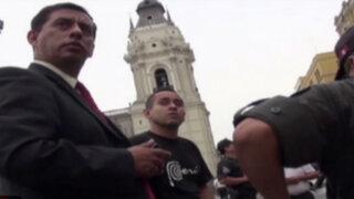 Empresa de telefonía aclara sobre intervención de ingenieros en Plaza de Armas