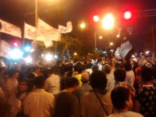 Jóvenes de varias regiones del país marchan contra nuevo Régimen Laboral