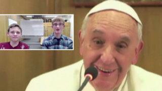 Italia: papa Francisco habló en videochat con niños de habilidades especiales