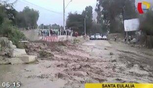 Huarochirí: 300 pobladores afectados por caída de huaicos en Santa Eulalia