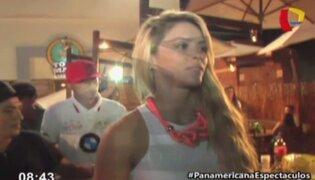 Sheyla Rojas y Patricio Parodi se divirtieron en discoteca del sur