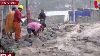 Huaycos en Chosica y Chaclacayo provocan inundaciones