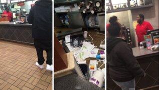 Trabajador de McDonald's destrozó local al enterarse que fue despedido