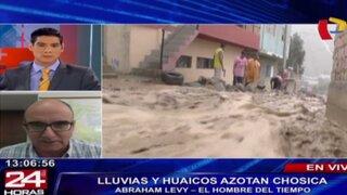 Abraham Levy advierte riesgo de más huaycos y lluvias en el sur del país