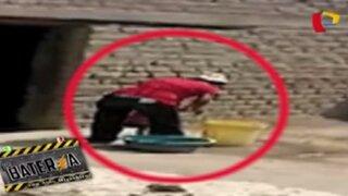 Ica: graban a mujer golpeando salvajemente a niña de 1 año