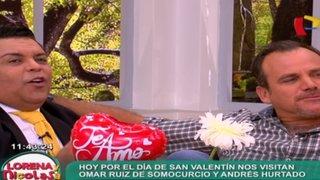 Andrés Hurtado y Omar Ruiz de Somocurcio juntos en Lorena y Nicolasa