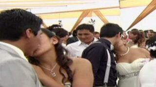 Chorrillos: 67 parejas se casaron en matrimonio masivo