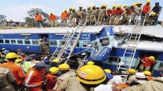 Accidente ferroviario deja 11 muertos y 60 heridos en la India