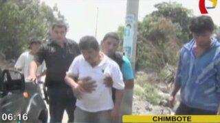 Hallan a médicos ebrios y golpeados en descampado de Chimbote