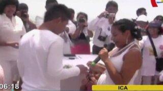 Ica: celebran matrimonio masivo por San Valentín