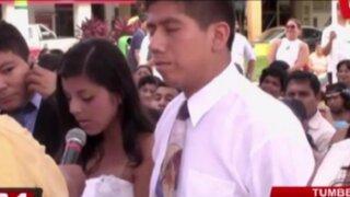Tumbes: novia dudó en dar el 'sí' en pleno matrimonio