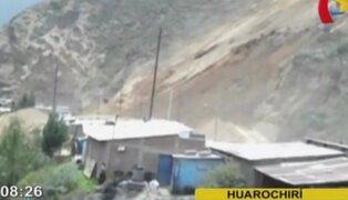 Deslizamiento de piedras en cerro Pucruchacra causó alarma en Huarochirí