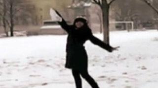 Canadá: peruana baila marinera sobre la nieve
