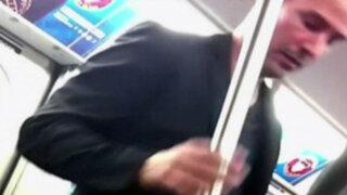 Espectáculo internacional: Keanu Reeves da el asiento en el metro