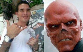 FOTOS: hombre se opera la nariz para parecerse a villano 'Cráneo Rojo'