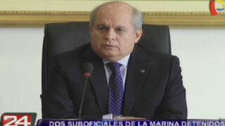 Cateriano responde a denuncia de espionaje por parte de suboficiales de la Marina
