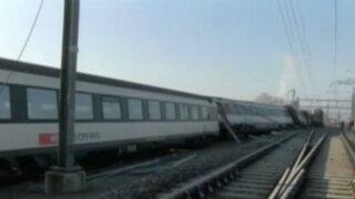 Al menos 50 heridos por choque de trenes en Suiza