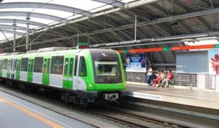 Metro de Lima: restringen servicio desde estación Atocongo hasta San Borja Sur
