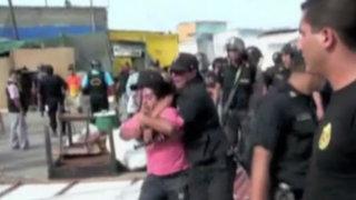 Chimbote: violento desalojo de informales en mercado