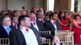 Reino Unido: boda bate récord de damas de honor y padrinos