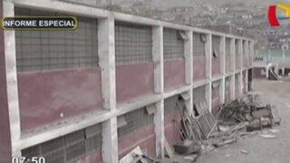 Infraestructura de colegios en Lima Norte se encuentran en completo estado de abandono