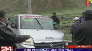 La Oroya: choque de minivan y tráiler en la Carretera Central deja dos muertos