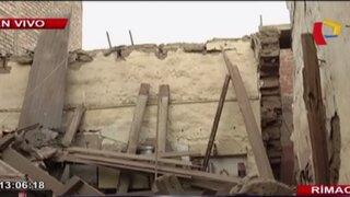 Familia se salvó de morir tras derrumbe de vivienda en el Rímac