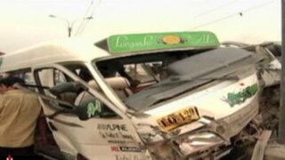 Carretera Central: accidentes dejan dos muertos y más de 20 heridos en Ate