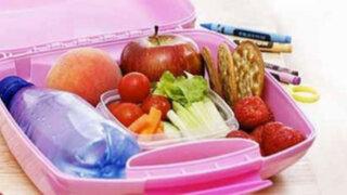Lonchera escolar: ¿Qué comida deben llevar los niños al colegio?